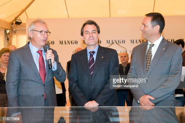 President of Catalunya Artur Mas and Mango President Isak Andic attend the 1st day of the construction ceremony for the new Mango Logistic Park to...