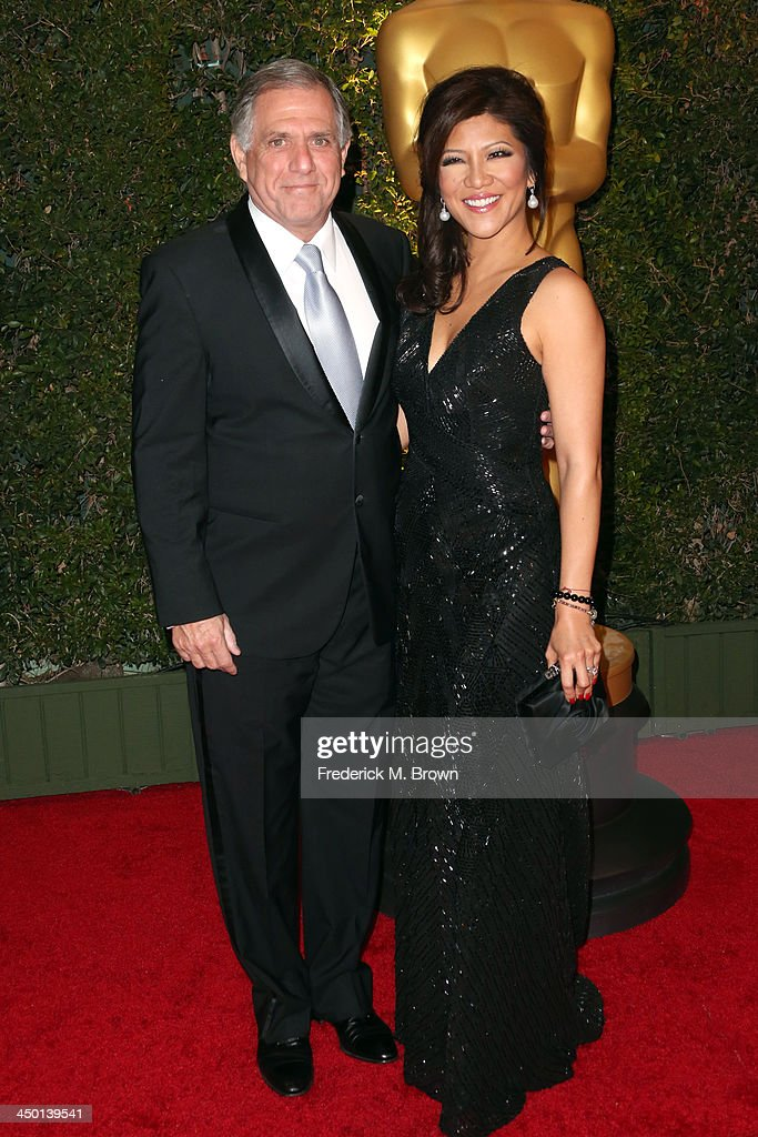 President of CBS <a gi-track='captionPersonalityLinkClicked' href=/galleries/search?phrase=Les+Moonves&family=editorial&specificpeople=210763 ng-click='$event.stopPropagation()'>Les Moonves</a> and tv personality <a gi-track='captionPersonalityLinkClicked' href=/galleries/search?phrase=Julie+Chen&family=editorial&specificpeople=206213 ng-click='$event.stopPropagation()'>Julie Chen</a> arrives at the Academy of Motion Picture Arts and Sciences' Governors Awards at The Ray Dolby Ballroom at Hollywood & Highland Center on November 16, 2013 in Hollywood, California.