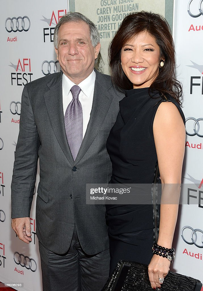President of CBS Leslie Moonves (L) and host <a gi-track='captionPersonalityLinkClicked' href=/galleries/search?phrase=Julie+Chen&family=editorial&specificpeople=206213 ng-click='$event.stopPropagation()'>Julie Chen</a> attend the AFI FEST 2013 presented by Audi closing night gala screening of 'Inside Llewyn Davis' at TCL Chinese Theatre on November 14, 2013 in Hollywood, California.