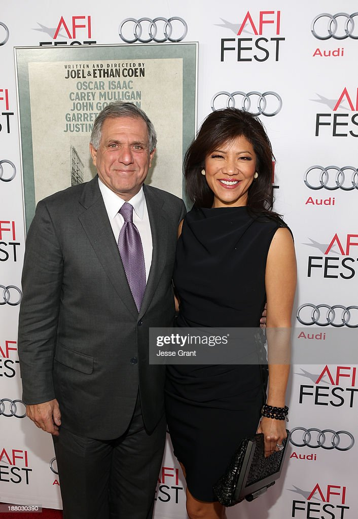 President of CBS, Leslie Moonves (L) and TV personality <a gi-track='captionPersonalityLinkClicked' href=/galleries/search?phrase=Julie+Chen&family=editorial&specificpeople=206213 ng-click='$event.stopPropagation()'>Julie Chen</a> attend the 'Inside Llewyn Davis' Gala Screening during AFI FEST 2013 presented by Audi at TCL Chinese Theatre on November 14, 2013 in Hollywood, California.