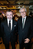 President of Centre Pompidou Alain Seban and President of 'Societe des Amis du Musee National d'Art Moderne' Didier Grumbach attend the 'Societe des...