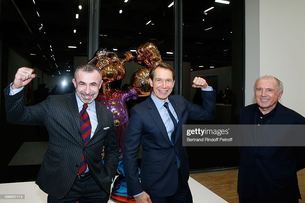 'Jeff Koons' Retrospective Exhibition : Private Visit At Beaubourg In Paris