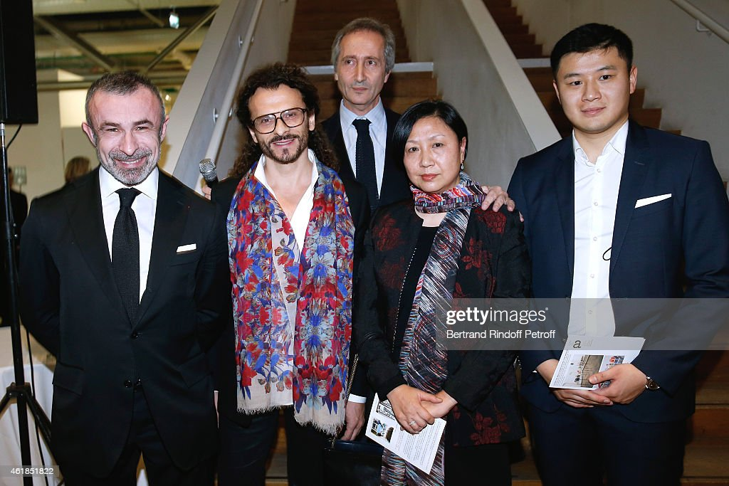 President of Centre Pompidou Alain Seban Galerist Lorenzo Fischi Director of the Centre Pompidou Museum of Modern Art Bernard Blistene Widow of Chen...