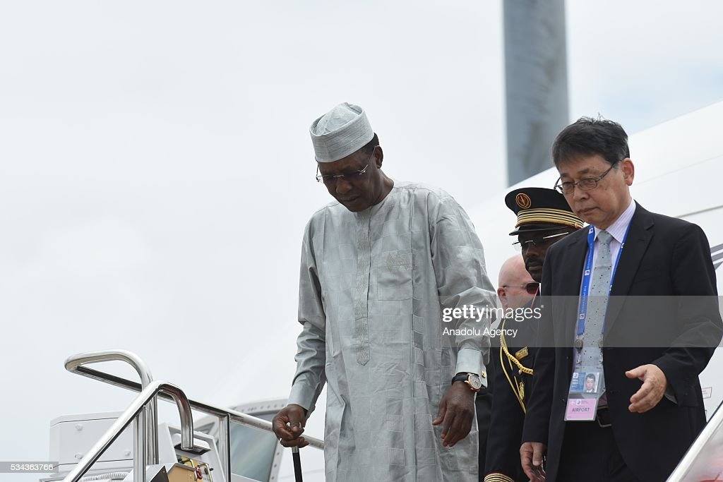President of Chad Idriss Deby arrives at Chubu Centrair International Airport in Tokoname Aichi Prefecture central Japan 25 May 2016