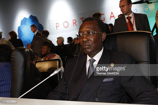 President of Chad Idriss Deby in Lisbon Portugal on December 08th 2007
