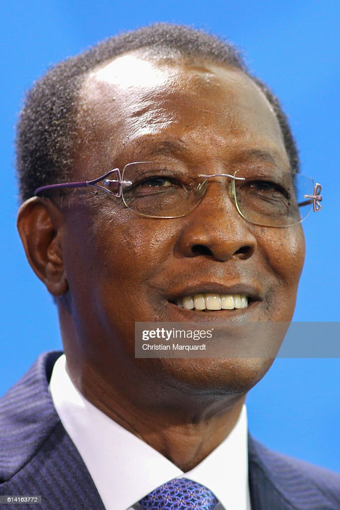Merkel Meets With Chad President Idriss Deby