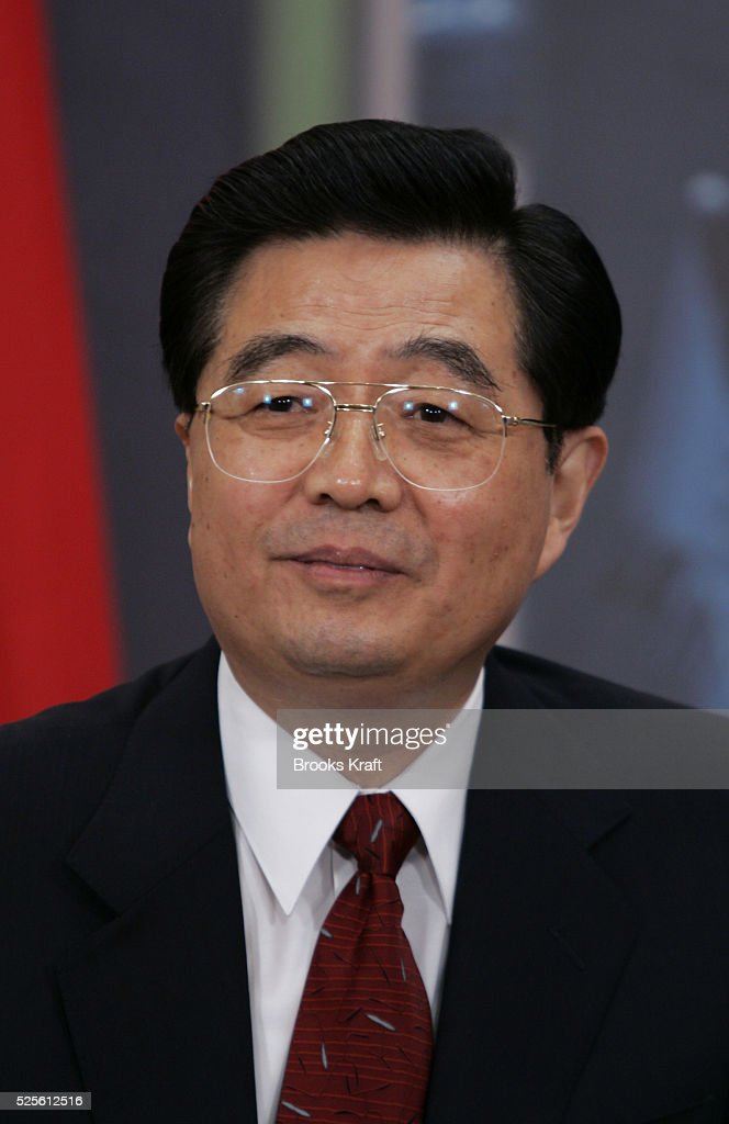 President of China Hu Jintao speaks to members of the press during his bilateral meeting with US President George W Bush at the Asia Pacific Economic...
