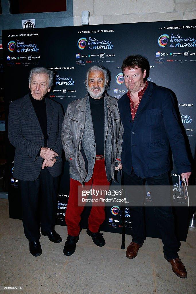 Jean-Paul Belmondo Presents The 'Leon Morin Pretre' Screening At La Cinematheque In Paris