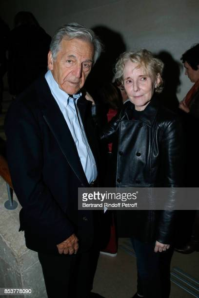 President of Cinematheque Francaise Constantin CostaGavras and director and coscriptwriter of the movie Claire Denis attend the 'Un beau soleil...