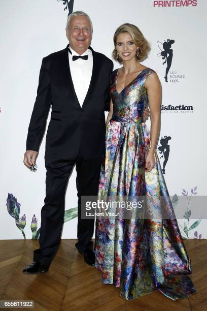 President of Clarins Christian CourtinClarins and Miss France 2002 Sylvie Tellier attend 'Les Bonnes Fees' Charity Gala at Hotel D'Evreux on March 20...
