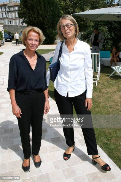 President of CNC Frederique Bredin and Minister of Culture Francoise Nyssen attend the 10th Angouleme FrenchSpeaking Film Festival Day Six on August...