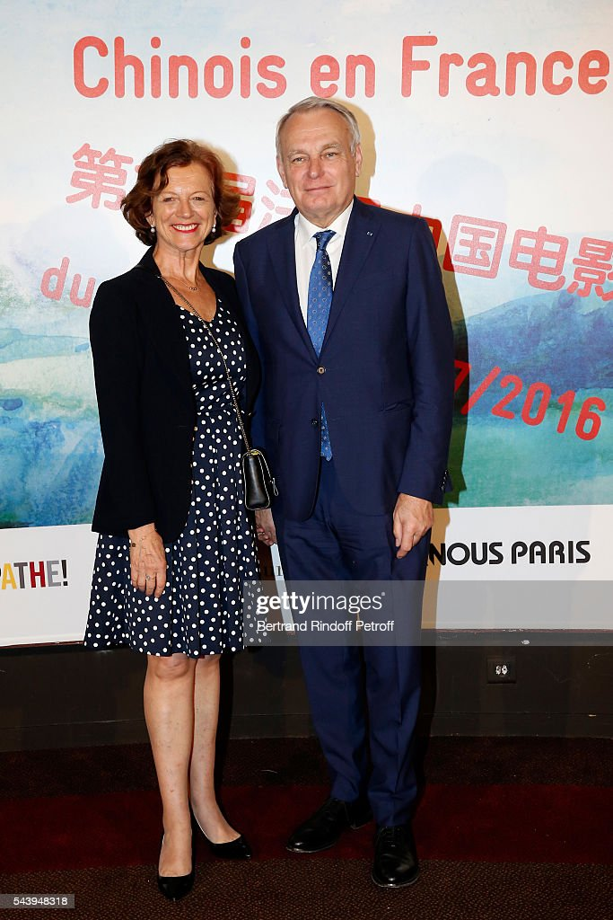 President of CNC, Frederique Bredin and Minister of Foreign Affairs <a gi-track='captionPersonalityLinkClicked' href=/galleries/search?phrase=Jean-Marc+Ayrault&family=editorial&specificpeople=551961 ng-click='$event.stopPropagation()'>Jean-Marc Ayrault</a> attend the 6th Chinese Film Festival