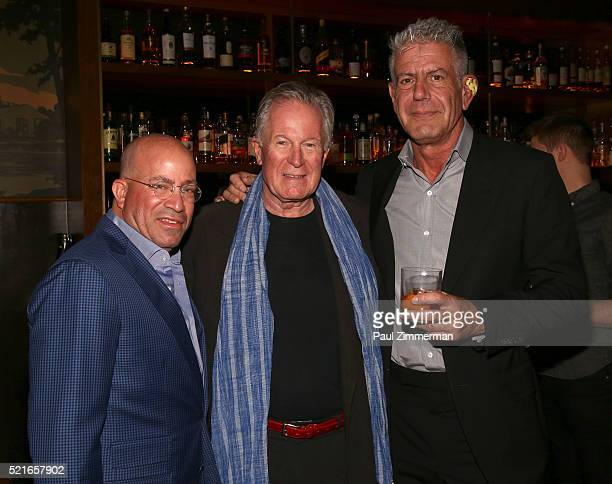President of CNN Worldwide Jeff Zucker film subject chef Jeremiah Tower and Executive Producer Anthony Bourdain attend the CNN Films and ZPZ...