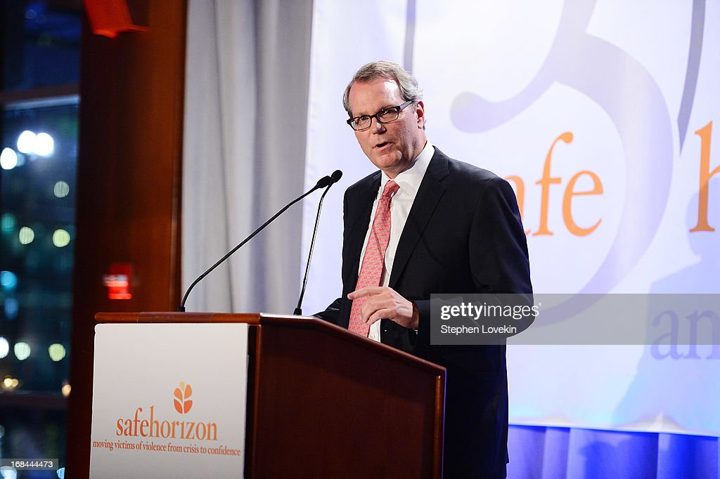 President of Commercial Banking of Capital One Michael Slocum speaks at Safe Horizon's 35th anniversary celebration at its annual gala at Pier Sixty at Chelsea Piers on May 9, 2013 in New York City.