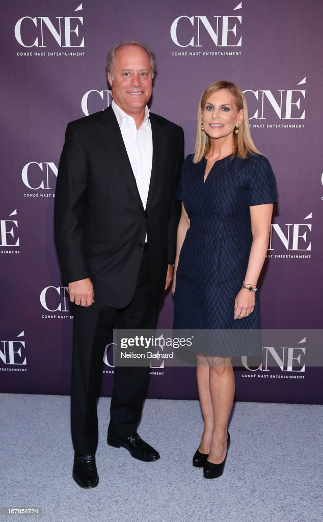 President of Conde Nast Bob Sauerberg and President of Conde Nast Entertainment <a gi-track='captionPersonalityLinkClicked' href=/galleries/search?phrase=Dawn+Ostroff&family=editorial&specificpeople=239016 ng-click='$event.stopPropagation()'>Dawn Ostroff</a> attend the Conde Nast Entertainment NewFront presentation on May 1, 2013 in New York City. CNE announced the addition of original programming to their digital network including slates inspired by Vogue and Wired, six new series inspired by Glamour and GQ for those channels which launched in March, and additional channels to be added later this year including Vanity Fair, Teen Vogue, Epicurious and Style.com.