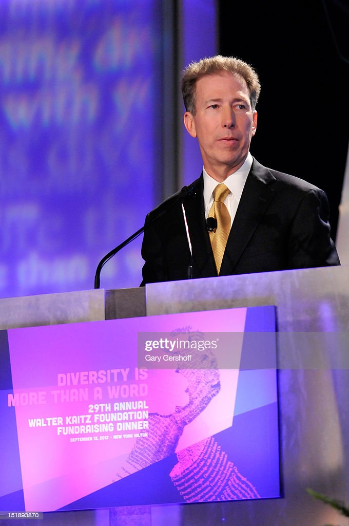 President of Cox Communications Patrick Esser speaks at the 29th Annual Walter Kaitz Foundation Fundraising Dinner at The Hilton Hotel on September 12, 2012 in New York City.