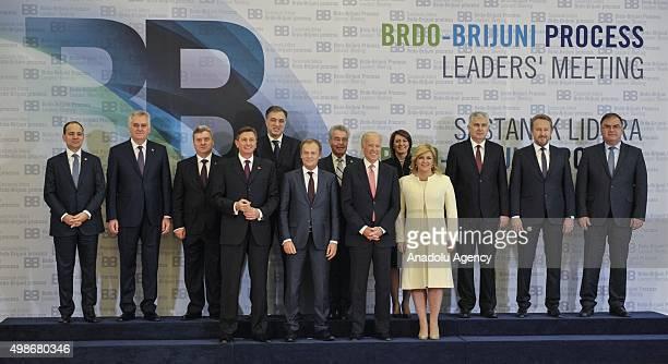 President of Croatia Kolinda GrabarKitarovic VicePresident of US Joe Biden European Council President Donald Tusk Slovenian President Borut Pahor and...