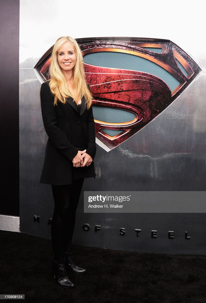 President of DC Comics Diane Nelson attends the 'Man Of Steel' world premiere at Alice Tully Hall at Lincoln Center on June 10, 2013 in New York City.