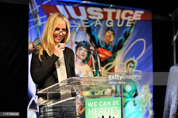 President of DC Entertainment Diane Nelson attends the DC Entertainment unveiling of a custom 'Justice League' car to benefit 'We CanBe Heroes' at...