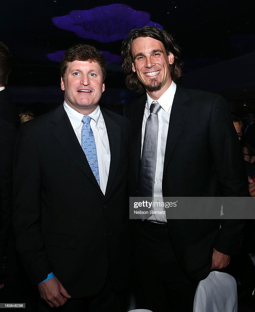 President of Diageo Peter McDonough and <a gi-track='captionPersonalityLinkClicked' href=/galleries/search?phrase=Chris+Kluwe&family=editorial&specificpeople=749151 ng-click='$event.stopPropagation()'>Chris Kluwe</a> attend the Ketel One VIP Red Carpet Suite at the 24th Annual GLAAD Media Awards at the Marriott Marquis on March 16, 2013 in New York.