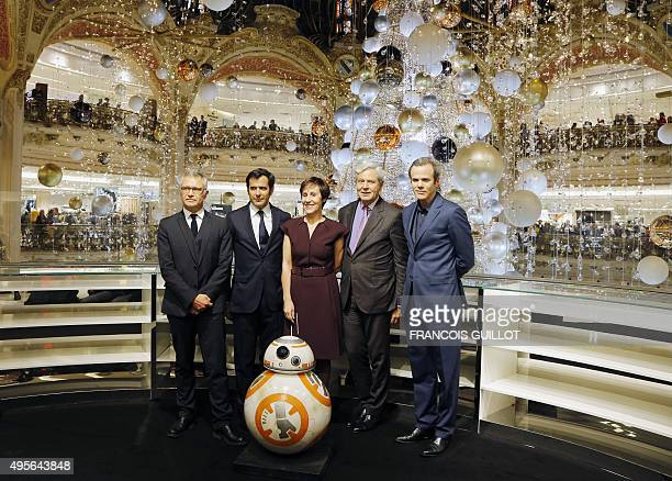 President of Disney France JeanFrançois Camiller General Manager of the French department store Galeries Lafayette Nicolas Houze Paris Haussmann...