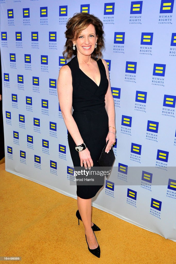 President of Disney-ABC Television Group Anne Sweeney arrives at Human Rights Campaign dinner gala at the JW Marriott at L.A. LIVE on March 23, 2013 in Los Angeles, California.