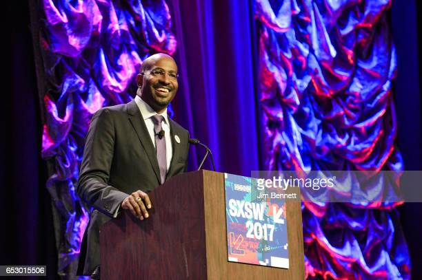 President of DreamCorps Van Jones delivers a talk on The Messy Truth during the SxSW Conference at the Austin Convention Center on March 10 2017 in...