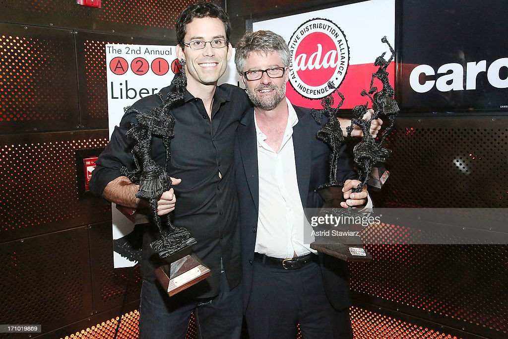 President of Dualtone Music Group, Paul Roper and Jed Hilly pose for photos during the 2nd Annual Libera Awards at Highline Ballroom on June 20, 2013 in New York City.