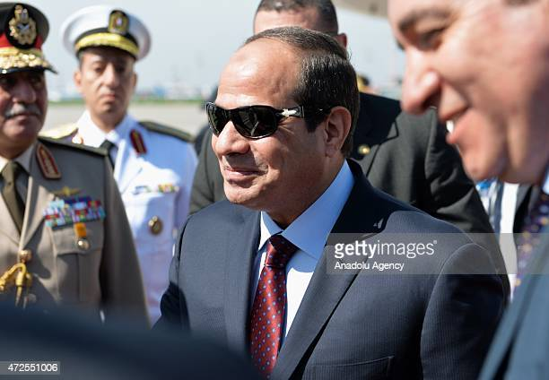 President of Egypt Abdel Fattah elSisi at Vnukovo2 airport after arriving in Moscow to join the celebrations of the 70th Anniversary of Victory in...