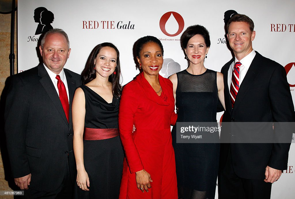 Water Mission Mike Hamiton, Founder & President of Blood:Water Mission Jena Nardella, President and CEO of CARE USA Dr. Helene Gayle, President & CEO of Noodles & Boo Christine Burger, and Board Chair of Blood:Water Mission Stuart McWhorter attend the Red Tie Gala Hosted by Blood:Water Mission and sponsored by Noodle & Boo at Hutton Hotel on November 21, 2013 in Nashville, Tennessee.