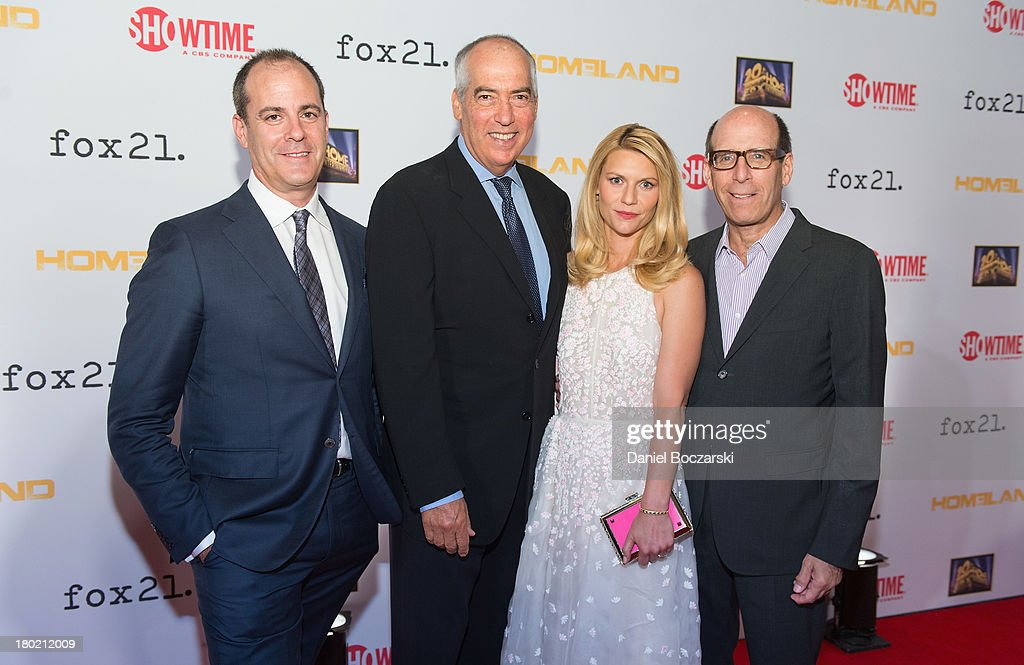 President of Entertainment at Showtime Networks David Nevins CoChairman of Fox 20th TV Gary Newman Claire Danes and CEO Chairman of Showtime Networks...
