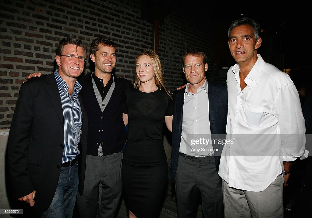 FBC president of Entertainment Kevin Reily, actor Joshua Jackson, actress Anna Torv, actor Mark Valley and FBC Cairman of Entertainment Peter Ligouri attend the 'Fringe' New York Premiere Party at The Xchance on August 25, 2008 in New York City.