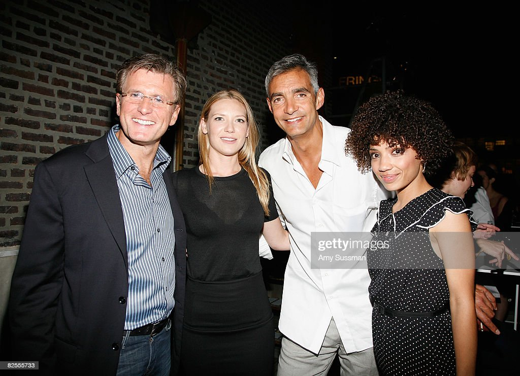 FBC president of Entertainment Kevin Reily, actress Anna Torv, FBC Cairman of Entertainment Peter Ligouri and actress Jasika Nicole attend the 'Fringe' New York Premiere Party at The Xchance on August 25, 2008 in New York City.