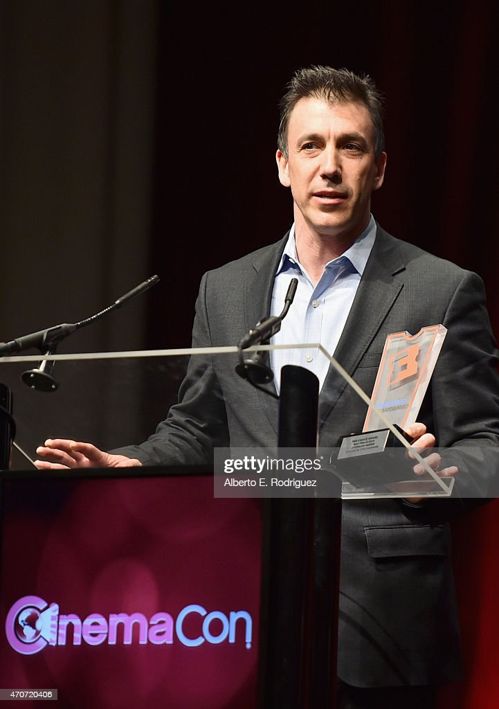 """President of Fandango Paul Yanover speals onstage during CinemaCon and Warner Bros. Pictures Present """"The Legend of Cinema Luncheon: A Salute to Clint Eastwood"""" at Caesars Palace during CinemaCon, the official convention of the National Association of Theatre Owners, on April 22, 2015 in Las Vegas, Nevada."""