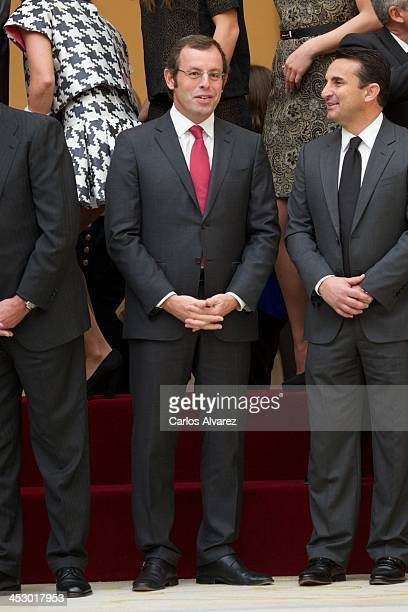 President of FC Barcelona Sandro Rosell attends the Spanish National Sports Awards 2013 at the El Pardo Palace on December 2 2013 in Madrid Spain