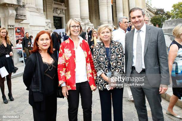 President of FIAC Jennifer Flay Minister of Culture Francoise Nyssen President of Reunion des Musees Nationaux Sylvie Aubac and guest attend the FIAC...