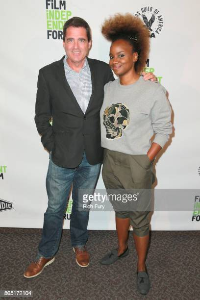 President of Film Independent Josh Welsh and director/cowriter Dee Rees attend day 3 of the Film Independent Forum at DGA Theater on October 22 2017...