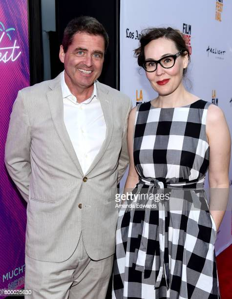 President of Film Independent Josh Welsh and LA Film Festvial Director Jennifer Cochis attend the Closing Night Screening of 'Ingrid Goes West'...