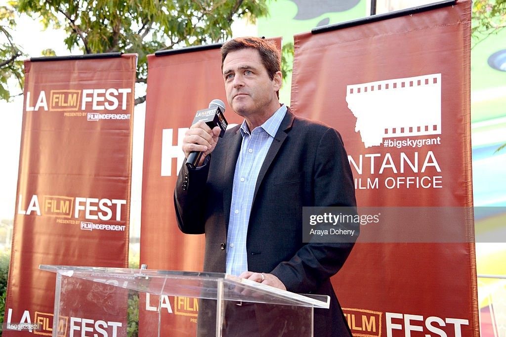 President of Film Independent <a gi-track='captionPersonalityLinkClicked' href=/galleries/search?phrase=Josh+Welsh&family=editorial&specificpeople=5431194 ng-click='$event.stopPropagation()'>Josh Welsh</a> speaks during the Filmmaker Reception during the 2014 Los Angeles Film Festival at Club Nokia on June 13, 2014 in Los Angeles, California.