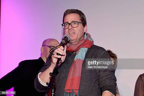 President of Film Independent Josh Welsh speaks onstage at the Film Independent International Documentary Association Oovra Music And RO*CO FILMS...