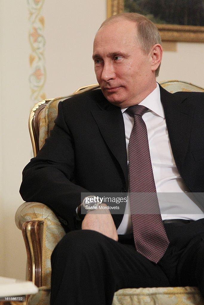 President of Finland Sauli Niinisto (not pictured) holds talks with Russian President <a gi-track='captionPersonalityLinkClicked' href=/galleries/search?phrase=Vladimir+Putin&family=editorial&specificpeople=154896 ng-click='$event.stopPropagation()'>Vladimir Putin</a> during their meeting on February 12, 2013 n Moscow, Russia. Niinisto, on a three-day visit to Russia, is also due to meet with Prime Minister Dmitri Medvedev and attend the Prodexpo foodstuffs industry exhibition.