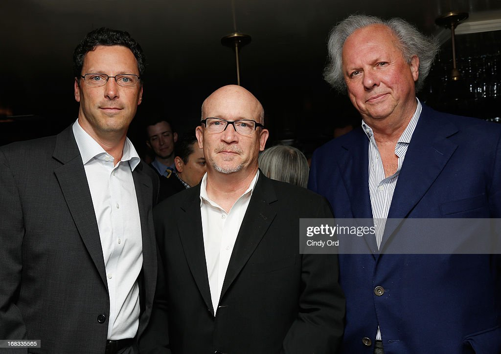 President of Focus Features <a gi-track='captionPersonalityLinkClicked' href=/galleries/search?phrase=Andrew+Karpen&family=editorial&specificpeople=566386 ng-click='$event.stopPropagation()'>Andrew Karpen</a>, Director/ Producer <a gi-track='captionPersonalityLinkClicked' href=/galleries/search?phrase=Alex+Gibney&family=editorial&specificpeople=844225 ng-click='$event.stopPropagation()'>Alex Gibney</a> and Vanity Fair editor <a gi-track='captionPersonalityLinkClicked' href=/galleries/search?phrase=Graydon+Carter&family=editorial&specificpeople=605905 ng-click='$event.stopPropagation()'>Graydon Carter</a> attend the 'We Steal Secrets: The Story Of Wikileaks' New York Screening Reception at The Beatrice Inn on May 8, 2013 in New York City.