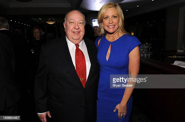 President of Fox News Channel Roger Ailes and Fox Business Network anchor Melissa Francis attend Melissa's book 'Diary of a Stage Mother's Daughter'...