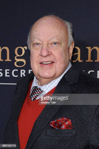 President of FOX News Roger Ailes attends the 'Kingsman The Secret Service' New York premiere at SVA Theater on February 9 2015 in New York City