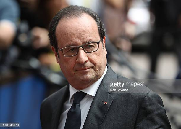 President of France Francois Hollande attends a European Council Meeting at the Council of the European Union on June 28 2016 in Brussels Belgium...