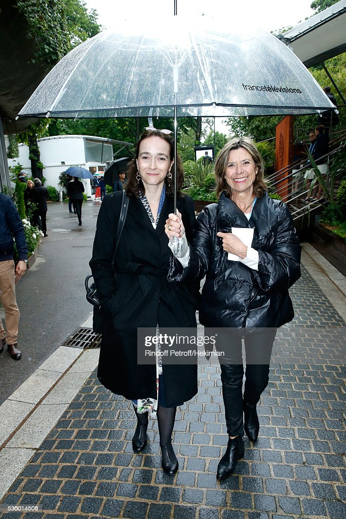 President of France Television, Delphine Ernotte (L) attends Day Ten of the 2016 French Tennis Open at Roland Garros on May 31, 2016 in Paris, France.