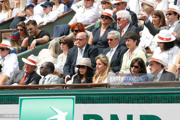 President of France Television Remy Pflimlin and his wife President of the Confederation of African Tennis Diagna Ndiaye French Minister Yamina...