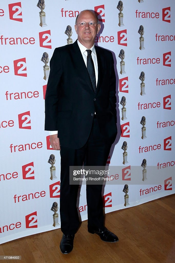 President of France Television Remy Pflimlin attends the 27th 'Nuit Des Molieres' 2015. Held at Folies Bergere on April 27, 2015 in Paris, France.