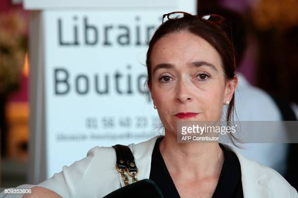President of France Televisions Delphine Ernotte Cunci looks on during a masterclass at the Maison de la Radio in Paris on July 5 2017 as part of the...