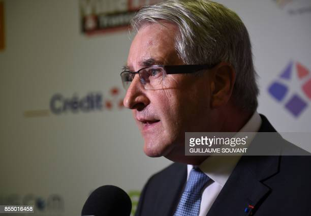 President of France's regions and head of the Grand Est regional council Philippe Richert holds a press conference after the prime minister's speech...